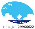 夏 夏の海 ヨットのイラスト 29966622