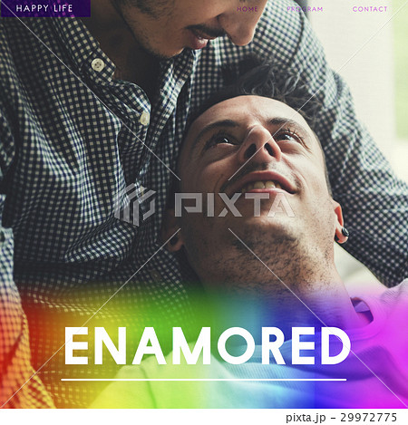 Gay Couple Amorous Enamored Foreverの写真素材 [29972775] - PIXTA