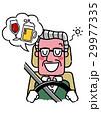 運転するシニア男性:お酒を飲んで運転 29977335