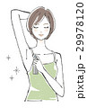 無香料のデオドラントスプレーを使う女性 ショートヘア 29978120