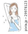 無香料のデオドラントスプレーを使う女性 ロングヘア 29978123