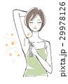 デオドラントスプレーを使う女性 ショートヘア 29978126