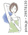 脇を気にする女性 ショートヘア 29978130