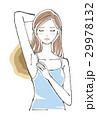脇を気にする女性 ロングヘア 29978132