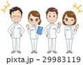 白衣の男女グループのイラスト 29983119