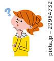 考える 女性 人物のイラスト 29984732