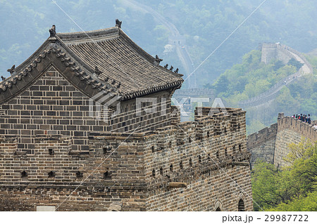 The Great Wall watchtower with traditional tile 29987722