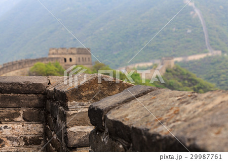 Parapet of the Great Wall of China 29987761