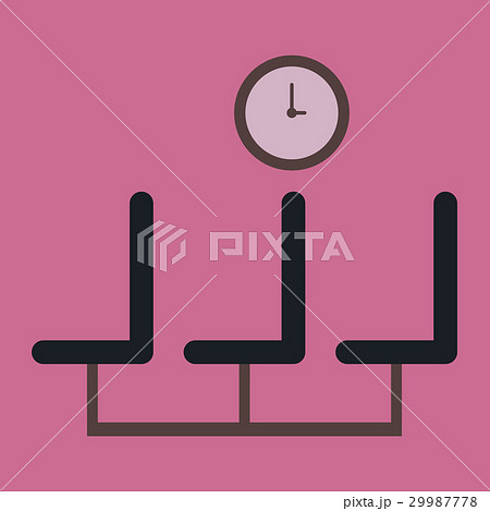 Icon in flat design for airport waiting hall 29987778