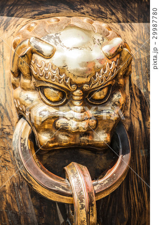 Head of dragon handle in ancient chinese palace 29987780