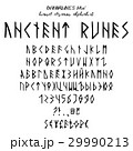Hand drawn vector alphabet 29990213