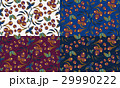 Seamless berry patterns with bunch of rowan 29990222