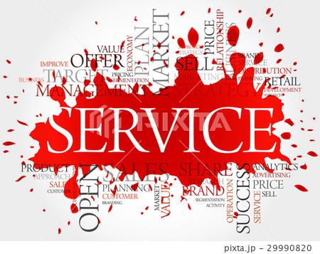 service word cloud business conceptのイラスト素材 29990820 pixta
