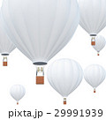 Hot Air balloons, white hot air balloons with 29991939