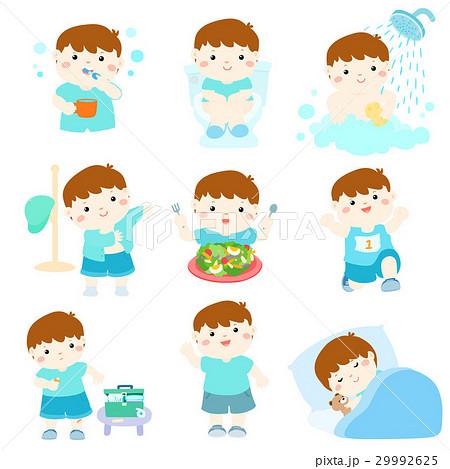 Healthy hygiene for boy cartoon vector 29992625