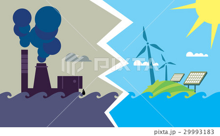 Evolution from industrial pollution to eco energy 29993183