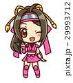 ミニスカ忍者ガール_C_桃 29993712