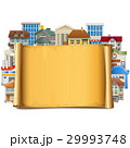 Vector Old Scroll with Buildings 29993748