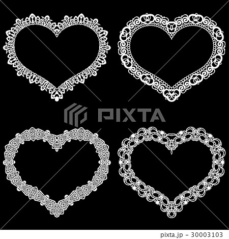Laser cut frame in the shape of  heart with border 30003103