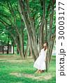 大きな木と女性 30003177