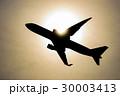 太陽の中の飛行機 30003413