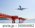 着陸する旅客機 30004062