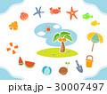 夏 ヤシ ヤシの木のイラスト 30007497