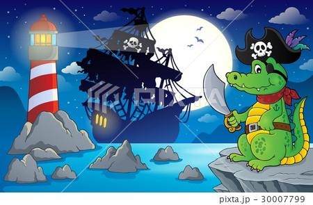 Night pirate scenery 5のイラスト素材 [30007799] - PIXTA