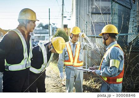 建設現場 朝礼 危険予知活動 30008846