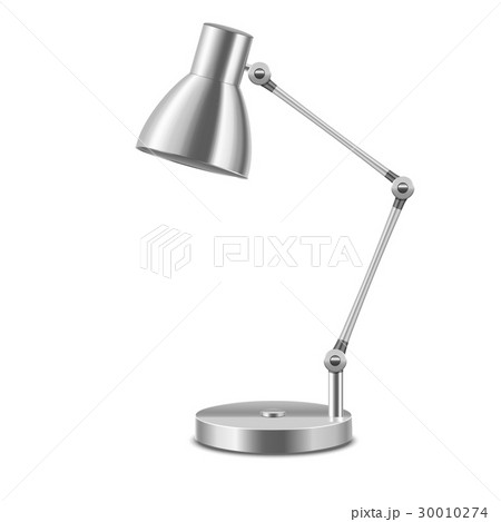 Realistic template blank metal table lamp vector realistic template blank metal table lamp vector mozeypictures Image collections