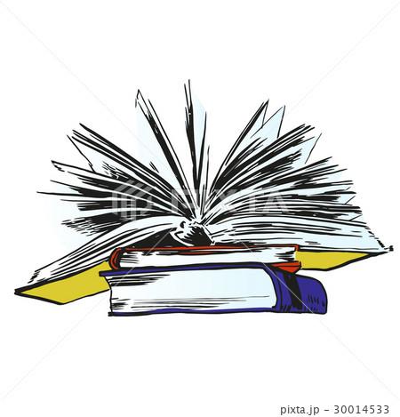 books and pics albumsのイラスト素材 30014533 pixta