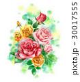 花 花束 バラのイラスト 30017555