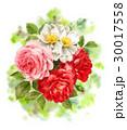 花 花束 バラのイラスト 30017558