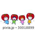 子供 女の子 トマトのイラスト 30018899
