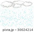 雲と雨の降る背景 30024214
