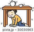 地震 避難 危険のイラスト 30030963