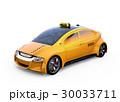 黄色い電気自動車のタクシーのイメージ 30033711