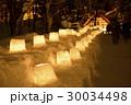 定山渓 雪灯路 冬の写真 30034498
