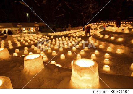 定山渓 雪灯路(イメージカット) 30034504
