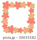 桜フレーム正方形 30035582