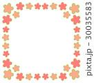 桜フレーム正方形 四隅 30035583