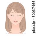 女性 シワ 目元のイラスト 30037466