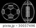 サッカー フットボール 蹴球のイラスト 30037496