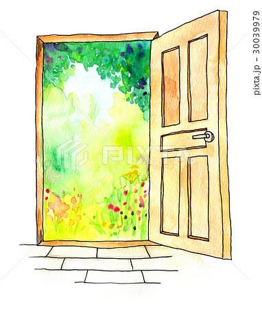 水彩イラスト ドアのイラスト素材 30039979 Pixta