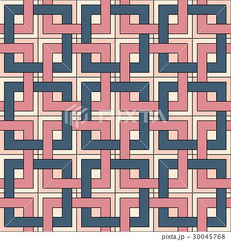 Seamless pattern of square elements.のイラスト素材 [30045768] - PIXTA