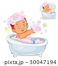 Small child take a bath with foam 30047194