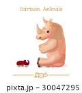 Rhino / rhinoceros & rhinoceros beetle 30047295