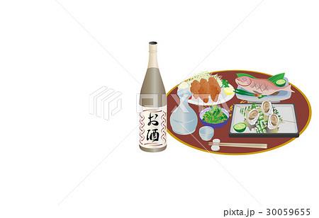 今日の晩酌日本酒とさざえの壺焼き 30059655