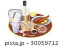 今日の晩酌酎ハイと柿の種 30059712