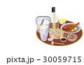 今日の晩酌酎ハイと柿の種 30059715